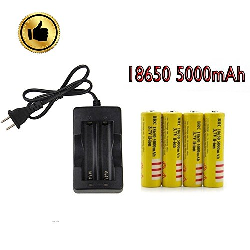 18650充電池3.7 V 5000 mAh(4本) と高速...