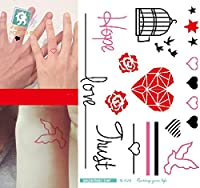 ボディーアート タトゥーシール シンプルな Sticker Tattoo - StickerCollection