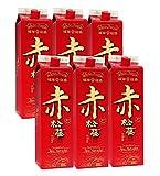 お得な 泡盛 崎山 赤の松藤 (1800ml 紙パック 6本セット) 黒糖酵母 東京農大 共同開発