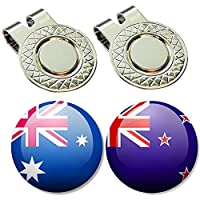 BUSHMANCRAFT 2 Golf Ball Markers + 2 Magnetic Hat Clips Set (NF_AU_NZ) [並行輸入品]