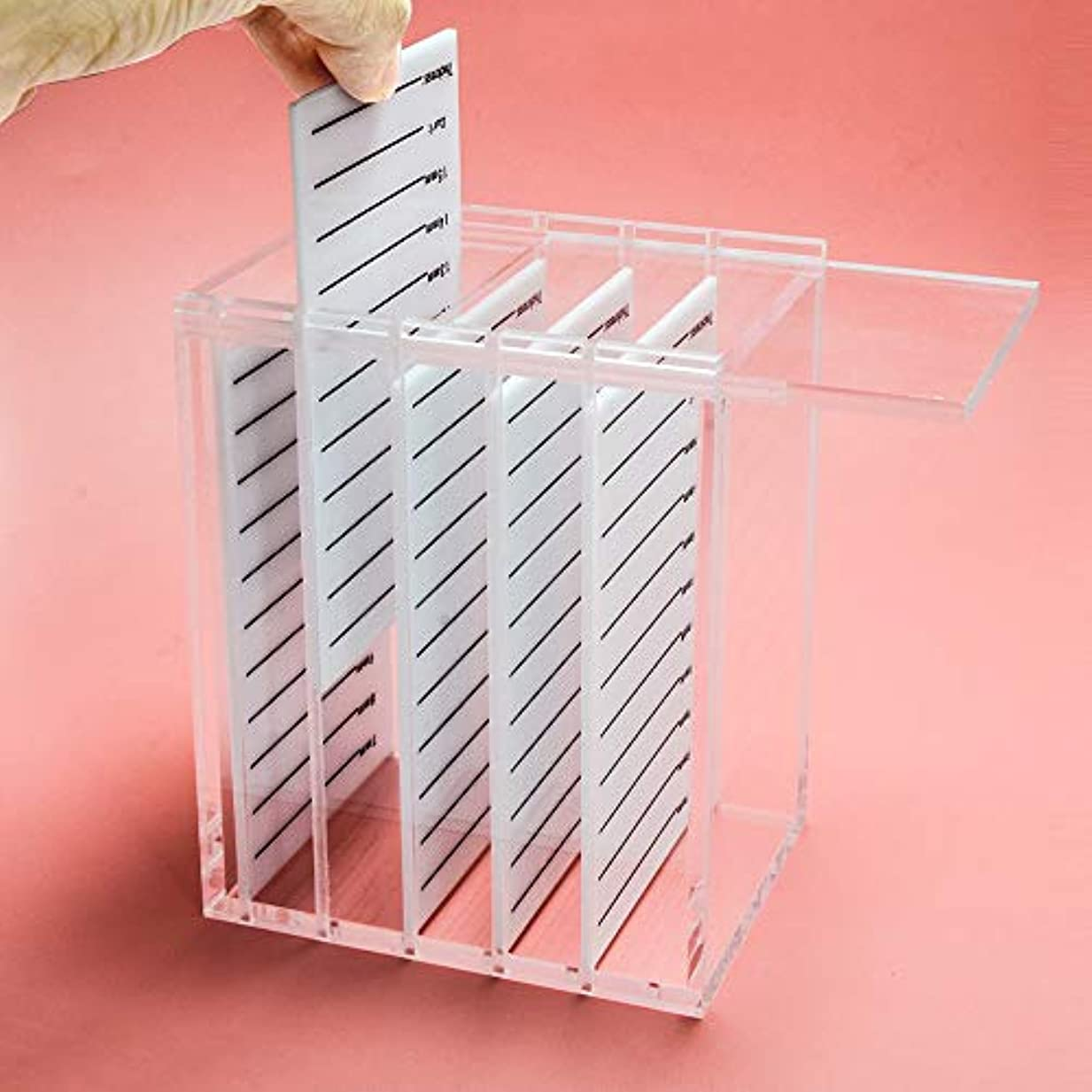 膨らみ曇った電化するNAGARAKU Acrylic False Eyelashes Eye Lashes Storage Box Volume lash storage Makeup tools Case Organizer Transparent...