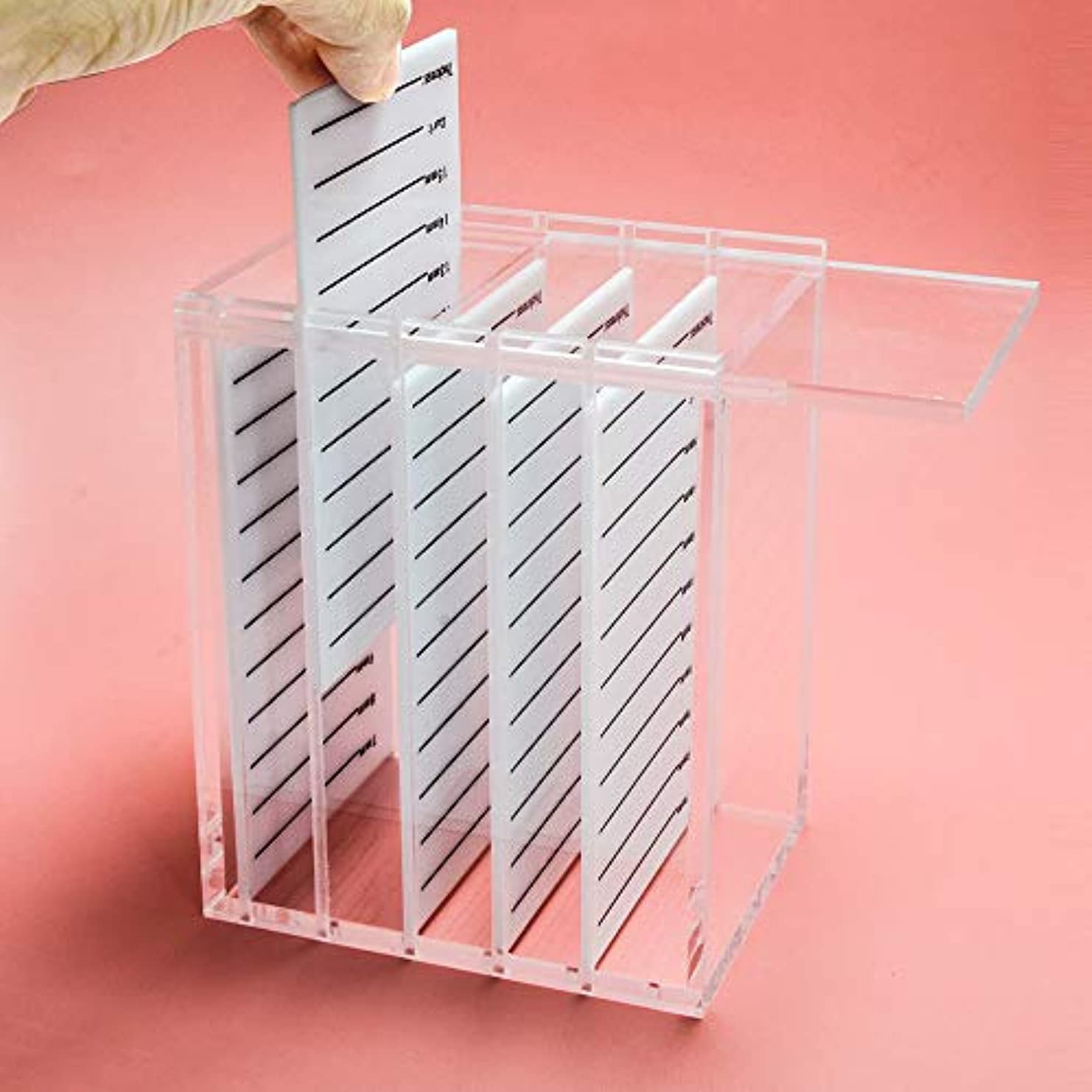 感性突き刺す豊富NAGARAKU Acrylic False Eyelashes Eye Lashes Storage Box Volume lash storage Makeup tools Case Organizer Transparent...