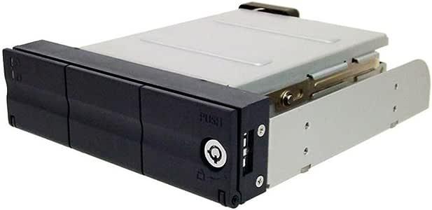 オウルテック 5.25ベイ内蔵専用3.5インチHDDケース 冷却ファン搭載 SATA接続 ロック付き Windows8対応 ガチャポンパッダイレクト ブラック OWL-BDR35SA(B)