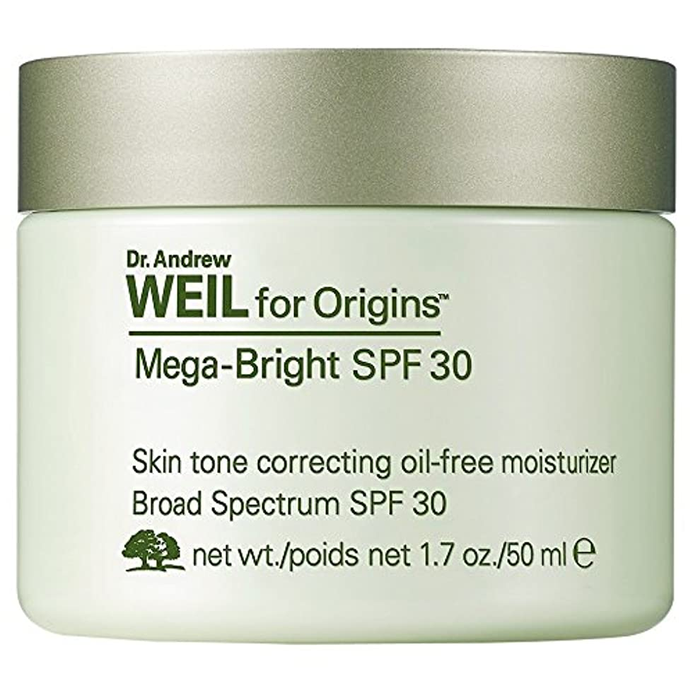 形式混合すべてDr。保湿、50ミリリットルの補正アンドルー?ワイルメガブライトSpf30の肌のトーン (Origins) (x6) - Dr. Andrew Weil Mega-Bright SPF30 Skin Tone Correcting...