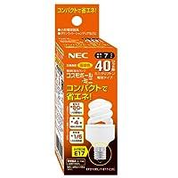 NEC 40形 電球形蛍光灯 コスモボール・ミニ E17 口金 電球色 EFD10EL/7-E17-C2C
