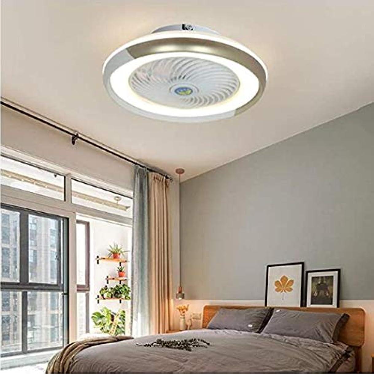 ご意見ジョリー切手リビングルームのベッドルーム、ゴールドのために照明見えないファンランプ現代調のファン天井LEDランプ調節可能な風速で天井のファンをLED