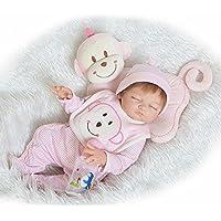 annedoll Realistic Rebornベビーガール20インチフルボディシリコン人形50 cm新生児赤ちゃんBedtime Toyパートナー少年少女のギフト誕生日Chirstmas
