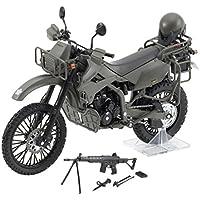 リトルアーモリー 1/12 彩色済み完成品バイクモデル LM002 陸上自衛隊偵察オートバイ DX版