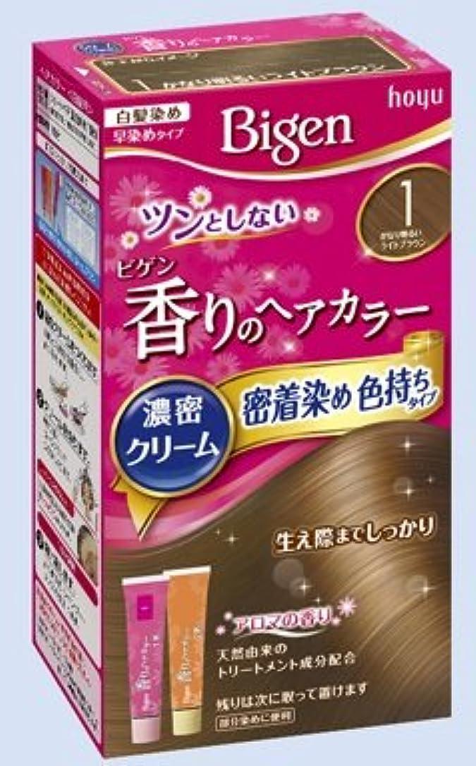 国民呪い宿るビゲン 香りのヘアカラー クリーム 1 かなり明るいライトブラウン × 27個セット