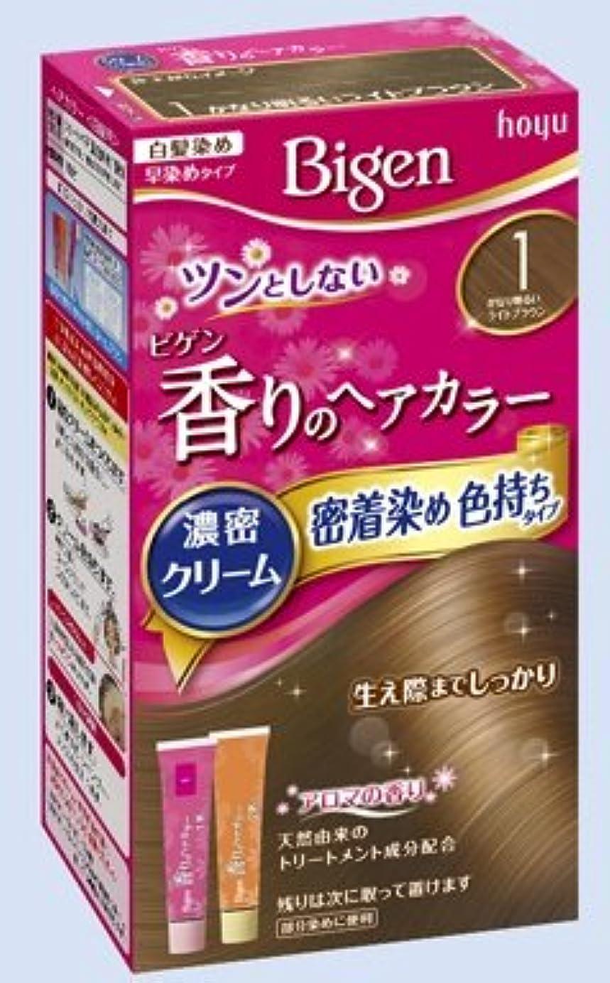 ハッチために宣伝ビゲン 香りのヘアカラー クリーム 1 かなり明るいライトブラウン × 10個セット
