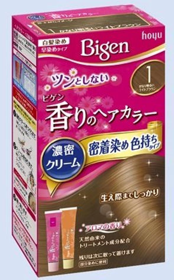 ほこりお風呂のスコアビゲン 香りのヘアカラー クリーム 1 かなり明るいライトブラウン × 27個セット