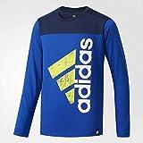 (アディダス)adidas トレーニングウェア ESS コットンタッチ スーパービッグロゴ長袖Tシャツ DUW13 [ボーイズ] DUW13 CG2291 カレッジロイヤル J160