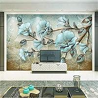 Zwlbp 写真の壁紙3D花壁画リビングルームテレビソファ背景壁画ヨーロッパスタイルレトロ壁画壁紙-150X120Cm