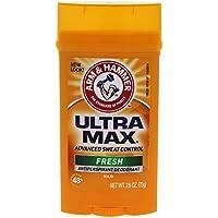 Arm & Hammer Ultra Max Antiperspirant Deodorant Invisible Solid, Fresh - 2.8 oz (並行輸入品)