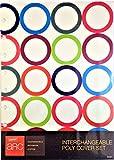 """円弧システムStaples交換可能ポリカバーセット、繰り返し円デザイン、6–3/ 8"""" x 8–3/ 4"""" ( 50051)"""