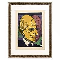 エルンスト・ルートヴィヒ・キルヒナー Ernst Ludwig Kirchner 「Portrait of Dr. Bauer.」 額装アート作品