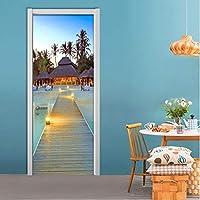 Xbwy 写真の壁紙カスタム3D壁画壁画海辺のビーチ風景ドア壁画ステッカーリビングルームレストランの装飾壁紙-120X100Cm