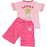 阪神タイガース ラッキー キッズパジャマ ピンク  タイガース kids パジャマ (120cm)
