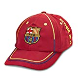 FC バルセロナ FC Barcelona ネイマール Neymar オフィシャル ロゴキャップ, サイズ - 子供, レッド:FCバルセロナオフィシャルグッズ
