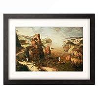ピーテル・ブリューゲル(父) Pieter Bruegel (Brueghel) de Oude 「Landscape with Christ appearing to his Disciples at the Sea of Galilee」 額装アート作品