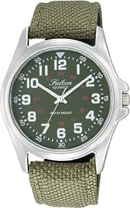 [シチズン キューアンドキュー]CITIZEN Q&Q 腕時計 Falcon (フォルコン) アナログ表示 カーキグリーン VW86-851 メンズ