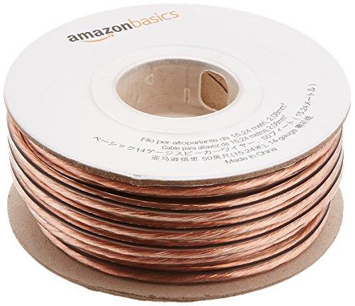 Amazonベーシック 14ゲージスピーカーケーブル 15m