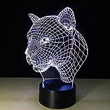 Queenshiny LED 3d Illusion夜ランプライトデスクランプ7色変更 ABC