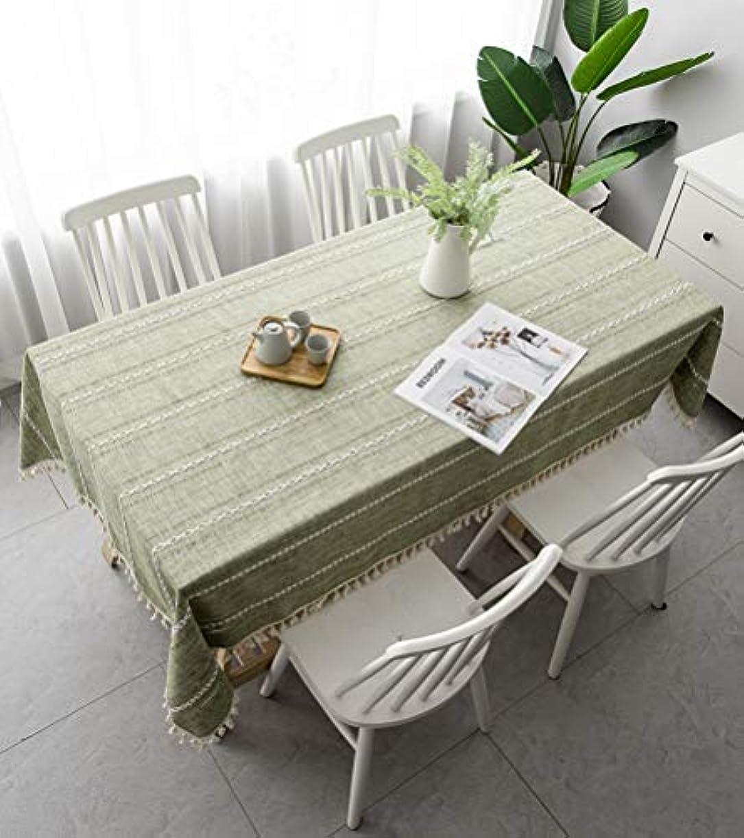 ペルソナファウル櫛テーブルクロス200分の220/180センチメートル綿と麻長方形のテーブルクロスファミリーキッチンレストラン休日のディナーパーティーの装飾,140x220