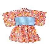 (オーシャンアンドグラウンド)Ocean&Ground 浴衣ワンピース DOT & STRIPE FLOWER簡単気付 M ピンク