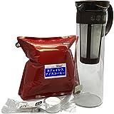 カフェインレス アイスコーヒー 水出しコーヒーセット 水出しポット(ショコラブラウン)+コーヒー豆(粉)+スプーン