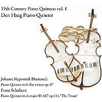 19世紀における珠玉のピアノ五重奏作品集Vol.1 (19th Century Piano Quintets vol.1 - Johann Nepomuk Hummel: Piano Quintet in E-flat minor op.87, Franz Schubert: Piano Quintet in A major D.667 op.114 ''The Trout'' / Den Haag Piano Quintet)