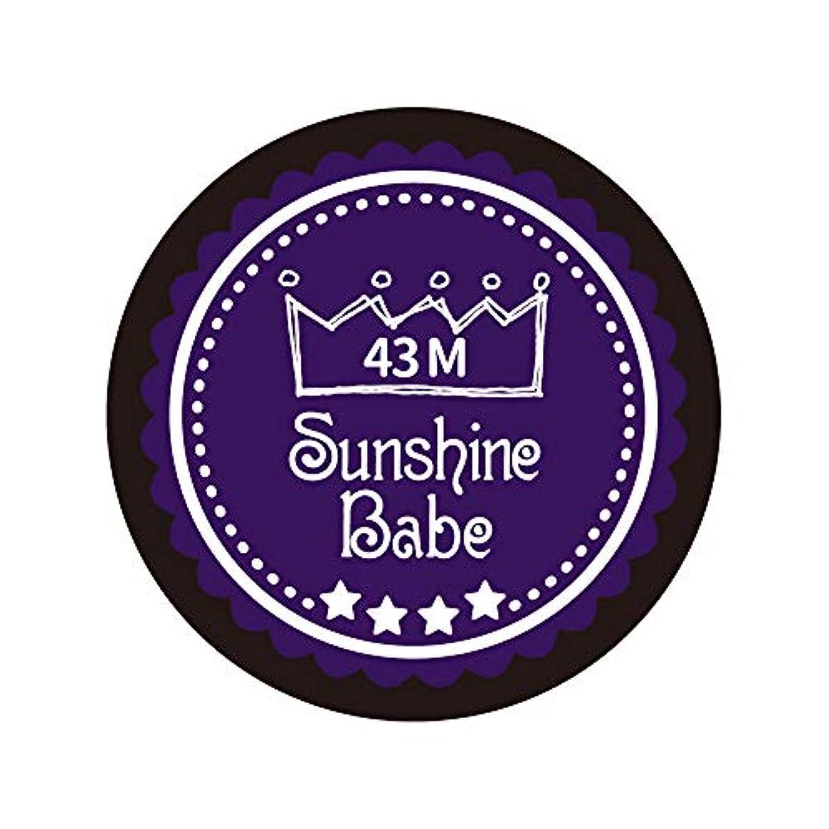 モール習字ポーズSunshine Babe カラージェル 43M オータムウルトラバイオレット 4g UV/LED対応