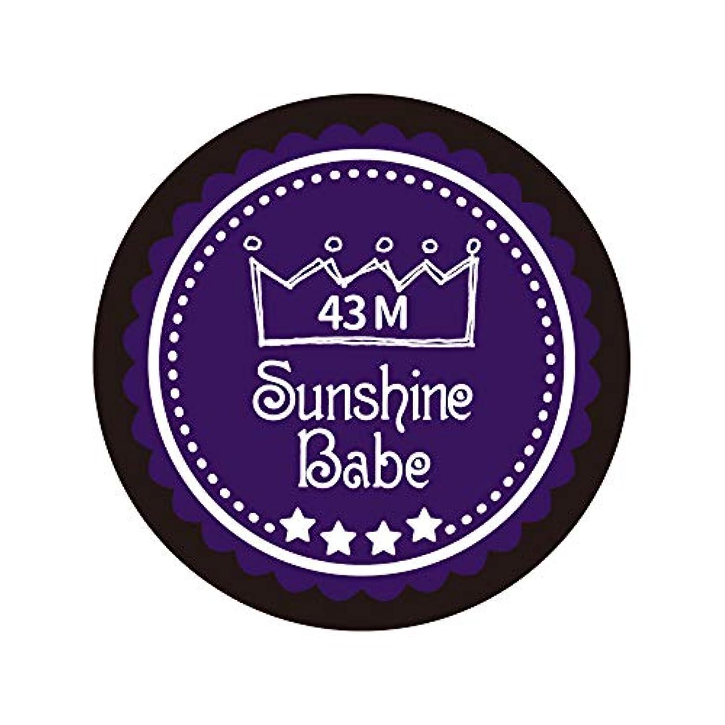だますお酒対称Sunshine Babe カラージェル 43M オータムウルトラバイオレット 4g UV/LED対応