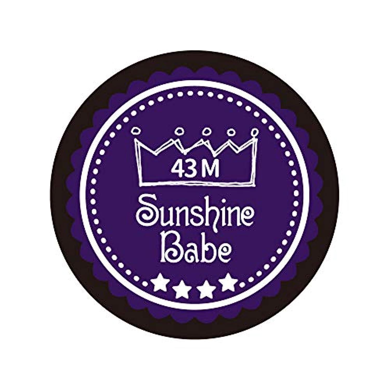 上流の自体メカニックSunshine Babe カラージェル 43M オータムウルトラバイオレット 4g UV/LED対応