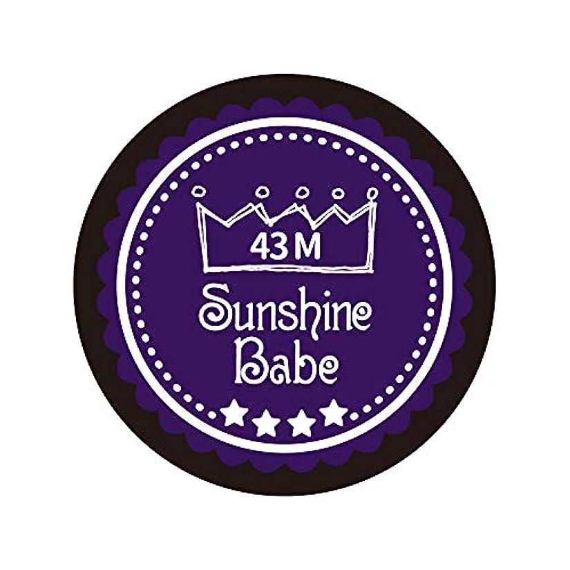 染色また産地Sunshine Babe カラージェル 43M オータムウルトラバイオレット 4g UV/LED対応