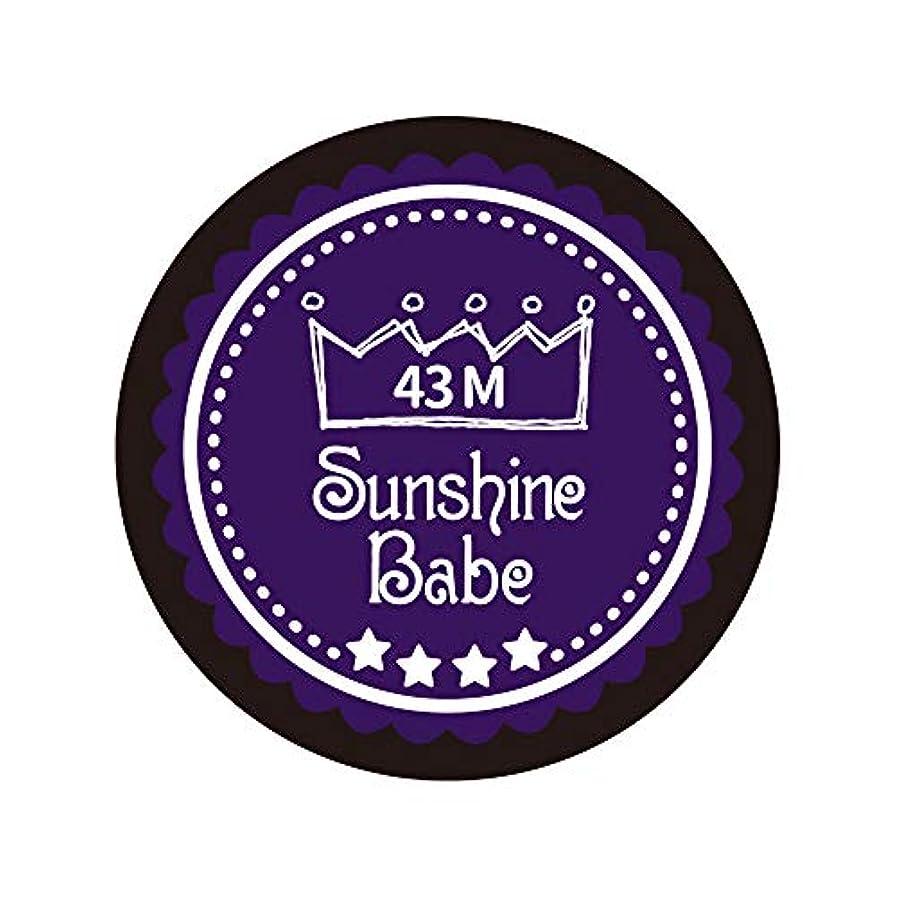 Sunshine Babe カラージェル 43M オータムウルトラバイオレット 4g UV/LED対応