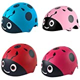 kufun 子供用 ヘルメット 自転車 インラインスケート スケートボード 調整可能 てんとう虫 サイクリング ヘルメット こども 超軽量 高剛性 ローラースケート スクーター 幼児