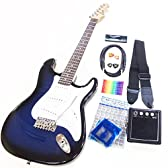 エレキギター 初心者入門セット スーパーベーシックセット Legend LST-Z ストラトタイプ BBS [98765]