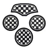 SKYBELL(スカイベル) BMW MINI 用 ドリンク ホルダー コースター ミニクーパー 【4枚セット】 (チェッカー)