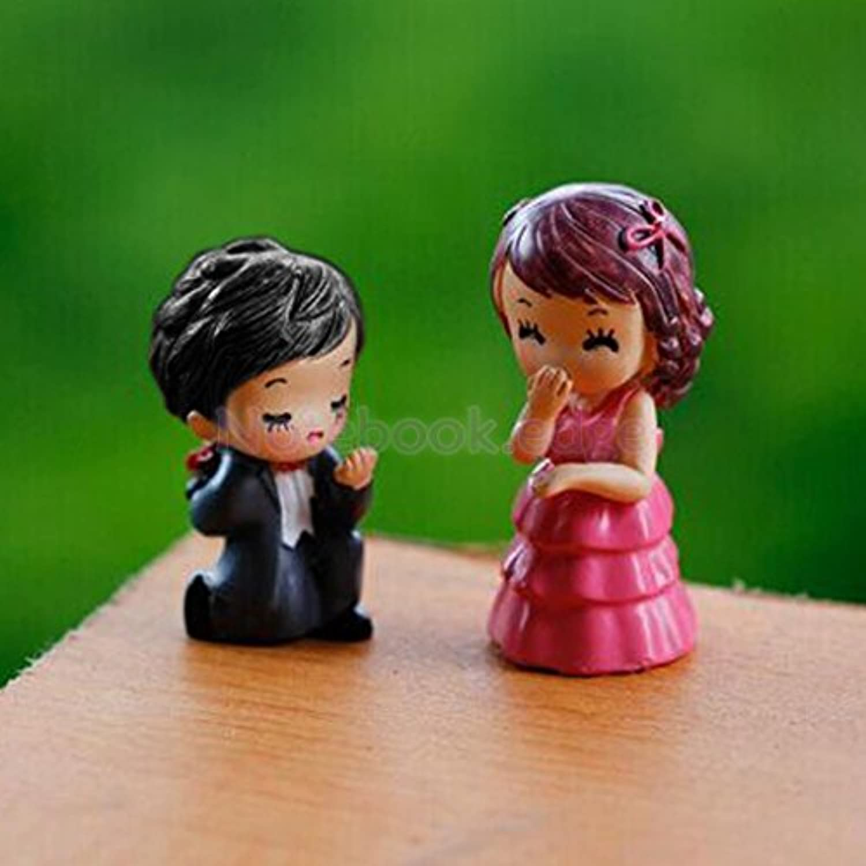 1 pair courtship lovers Set of Miniature Human People Garden Terrarium Figurine Bonsai Dollhouse Decor