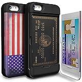 Amazon.co.jpiPhone5/5S/SE ケース TORU 手帳型 ミラースタンド 保護 カバー アメリカUS国旗
