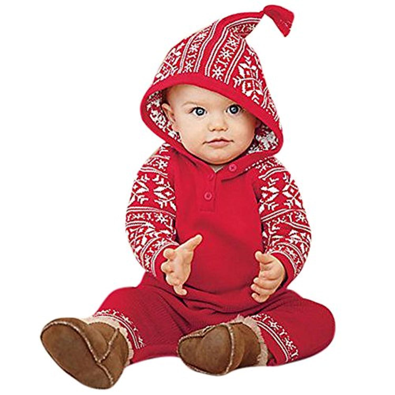 Domybest カバーオール ベビー服 寝具 長袖 男の子 女の子 0-18ヶ月 ストライプ クリスマス スノーフレーク 柔らかく快適 強い弾力性 出産祝い 百日記念 お祝いギフト 誕生日