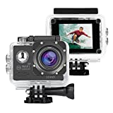 NexGadget アクションカメラ 1080PフルHD高画質 140度広角 30m防水 スポーツカメラ WIFI機能搭載 防犯カメラ