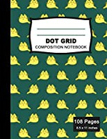 Dot Grid Composition Notebook: Beautiful and Large (8.5 x 11 inches) - 100+ Dotted Pages Black Dotted Notebook - Journal for School and College Students, Artists, Planners, and Designers - Kawaii Cat Colorful Pattern Notebook (Office & School Essentials)