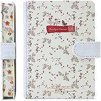 かわいい日記帳 花柄 横書き A6 日付け表示なし (多彩(ロース))