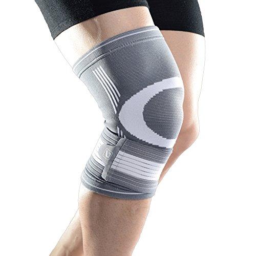 膝サポーター LiveupSports 膝サポート 膝固定 伸縮性 保温性 通気性 滑り止め 怪我防止 関節 靭帯 保護 アウトドア スポーツケア 左右兼用 単品