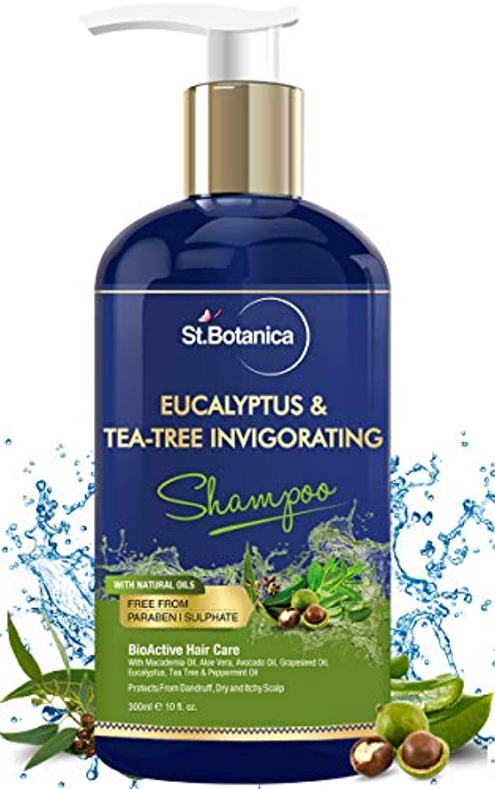 慢歌サミットStBotanica Eucalyptus & Tea Tree Oil Hair Repair Shampoo - 300ml - No SLS/Sulphate, No Parabens, No Silicon