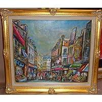 絵画・油絵 小澤勇寿郎 「パリ・ムフタール」10号風景画 アート絵画販売 絵画通販