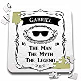 InspirationzStore The Man The Myth The Legend???Gabriel The Man The Myth The Legend???個人名Personalized Gift???10?x 10インチパズル(P。_ 232286?_ 2?)