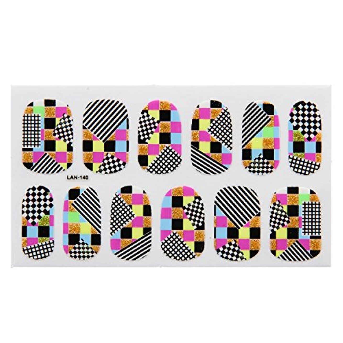 柱歩く親密な不二貿易 ネイルラップ シール 簡単貼るだけネイルアート LAN140 幾何学 ラメチェック 22800